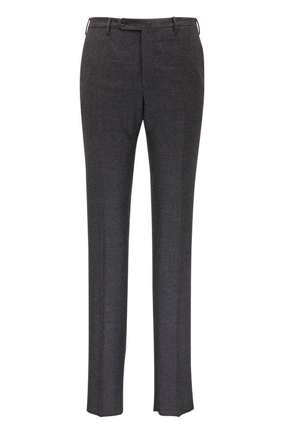 Incotex Charcoal Gray Wool Dress Pant
