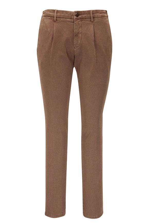 Fradi Honey Darted Stretch Cotton Pant