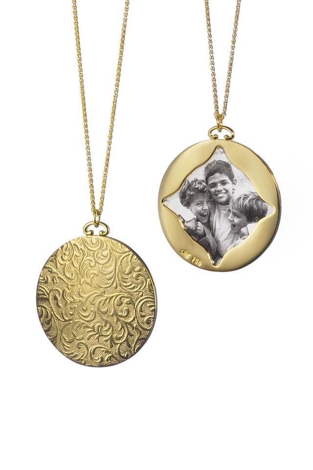 Gold Vine Picture Pendant