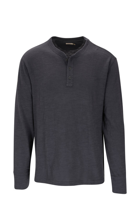 Faherty Brand Graphite Slub Cotton Henley