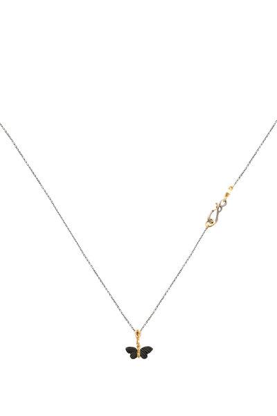 James Banks - Shakudo Butterfly Necklace