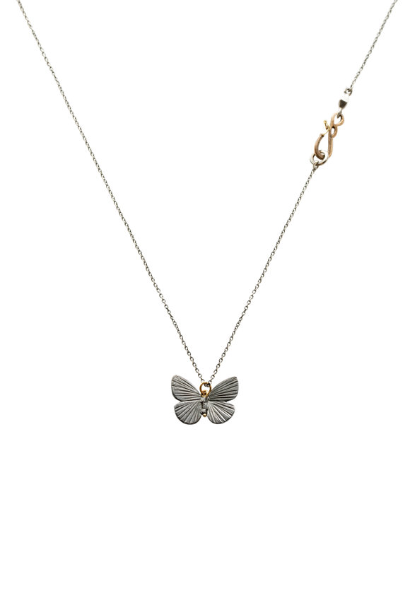 James Banks Oxidized Sterling Silver Baby Asterope Necklace