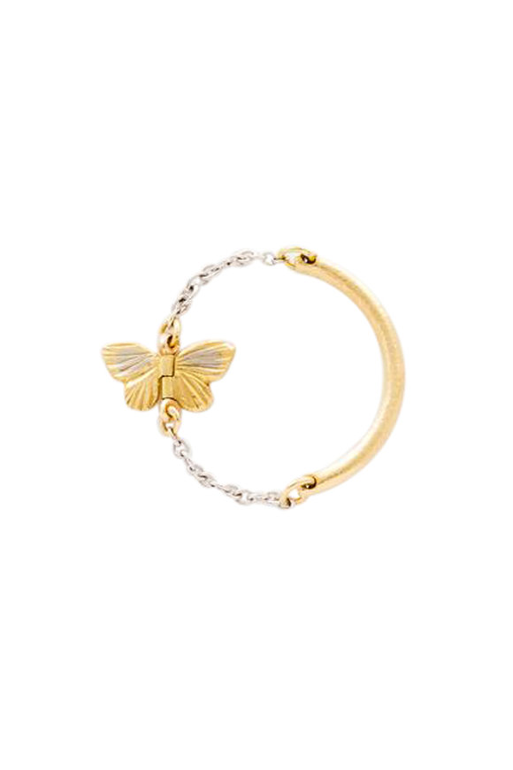James Banks White & Yellow Gold Tiny Baby Asterope Ring