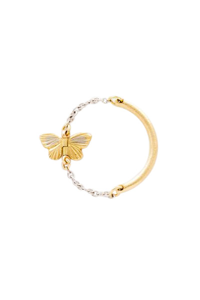 James Banks - White & Yellow Gold Tiny Baby Asterope Ring