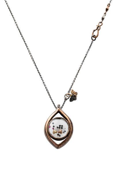 James Banks - Gold, Silver & Bronze Monocle Necklace