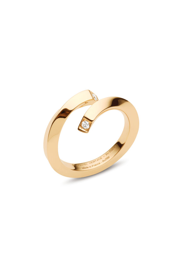 Nouvel Heritage 18K Yellow Gold Diamond Thread Ring