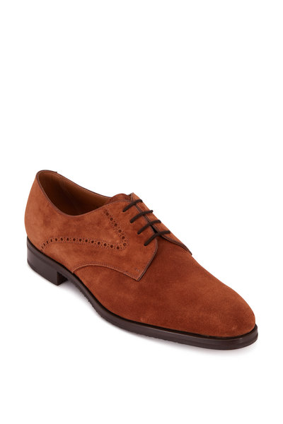 Gravati - Spaniel Medium Brown Suede Lace-Up Dress Shoe