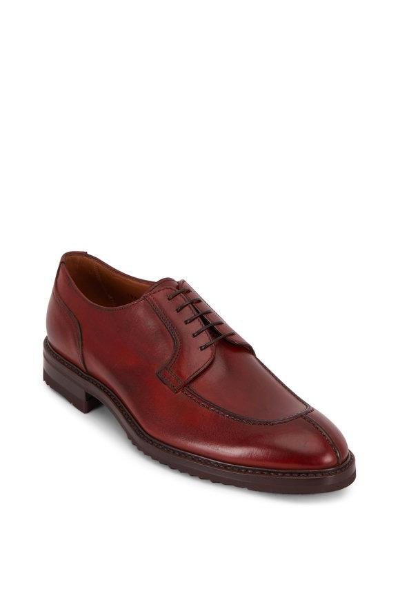 Gravati Blucher Brandy Leather Lace-Up Dress Shoe