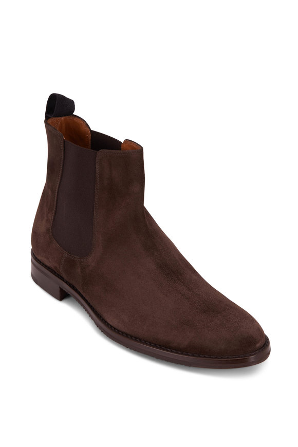 Gravati Dark Brown Suede Chelsea Boot
