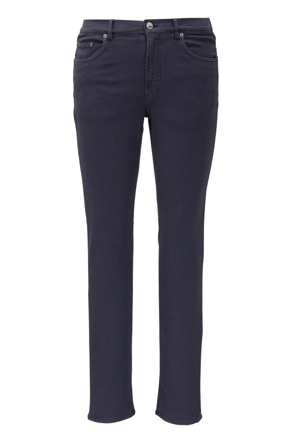 Faherty Brand Navy Blue Stretch Terry Pant