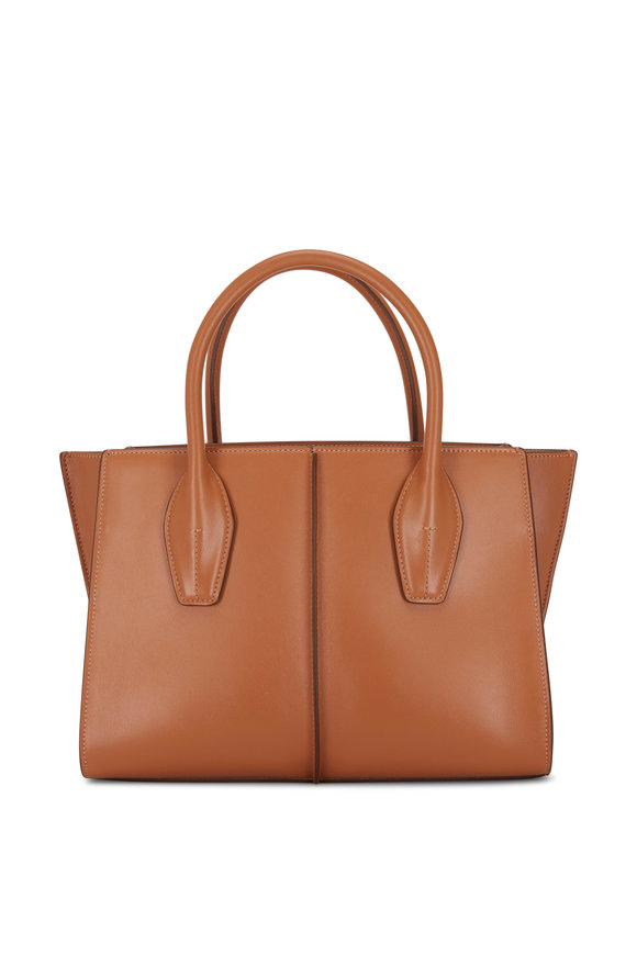 Tod's Manici Cognac Leather Medium Shopper Tote