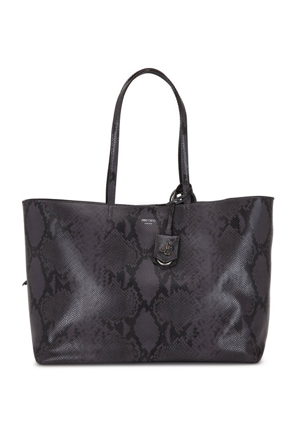 Jimmy Choo Nine2Five Dusk Snake Printed Leather Tote