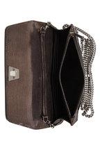 Akris - Anouk Bronze Metal Lamé Lizard Envelope Bag