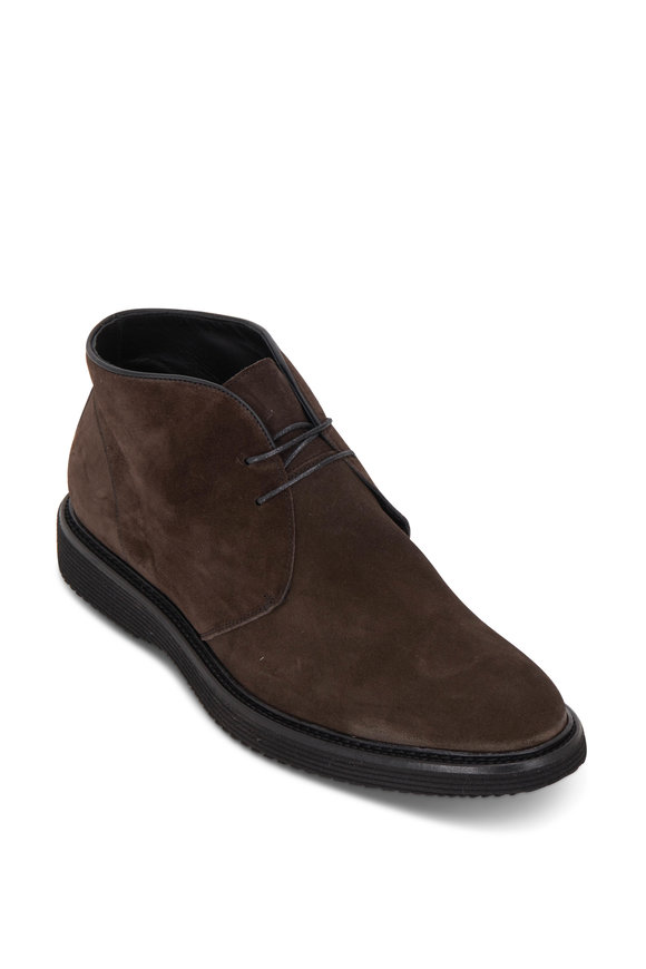 Trask Ralston Charcoal Gray Suede Desert Boot
