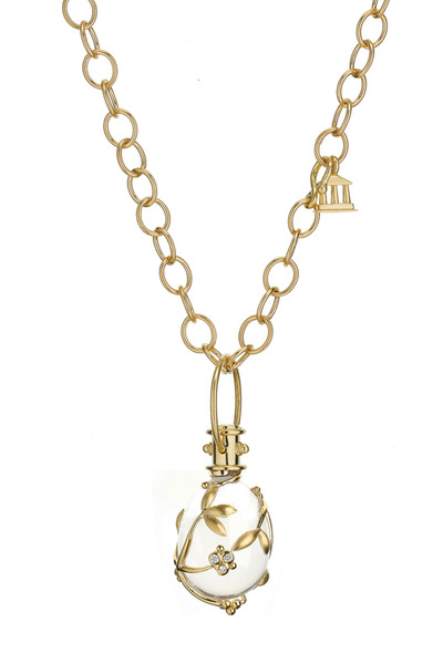 Temple St. Clair - Yellow Gold Vine Crystal Amulet Pendant