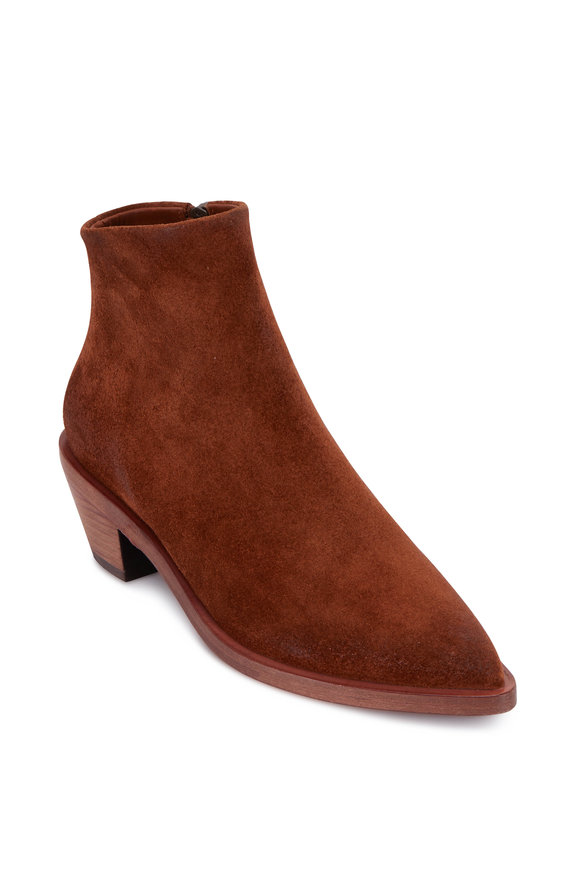 Marsell Brown Suede Side Zip Bootie