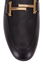 Tod's - Gommini Black Leather Double T Driver