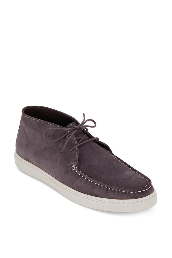 G Brown Koala Gray Suede Chukka Boot