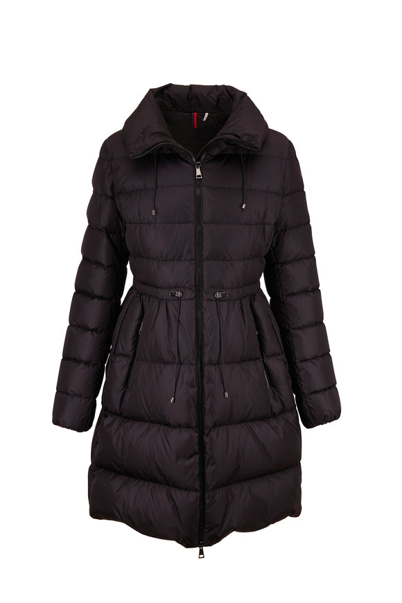 Moncler Malban Black Fitted Down Coat