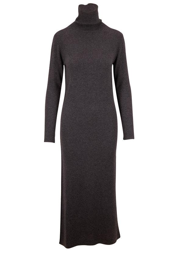 Nili Lotan Cassandra Charcoal Cashmere Turtleneck Dress