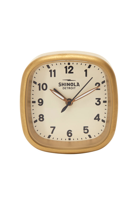 Shinola Guardian Cream Travel Alarm Clock