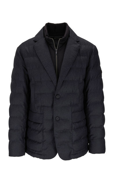 Z Zegna - Charcoal Flannel Feather Free Down Jacket