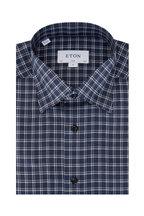 Eton - Navy Check Contemporary Fit Sport Shirt