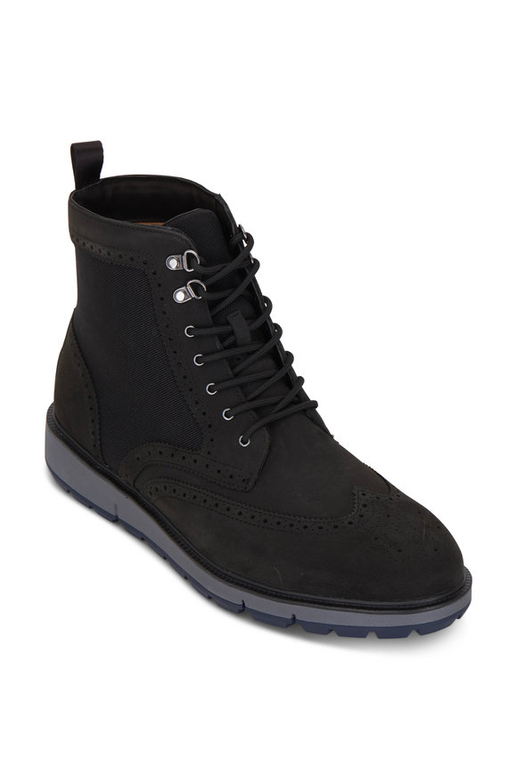 Swims Motion Black Suede Country Boot