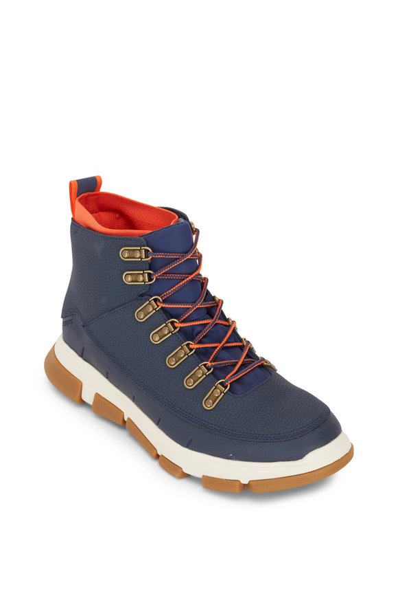 Swims City Navy Blue Leather Hiking Boot
