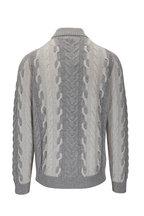 Corneliani - Gray Cashmere & Wool Cable Knit Turtleneck
