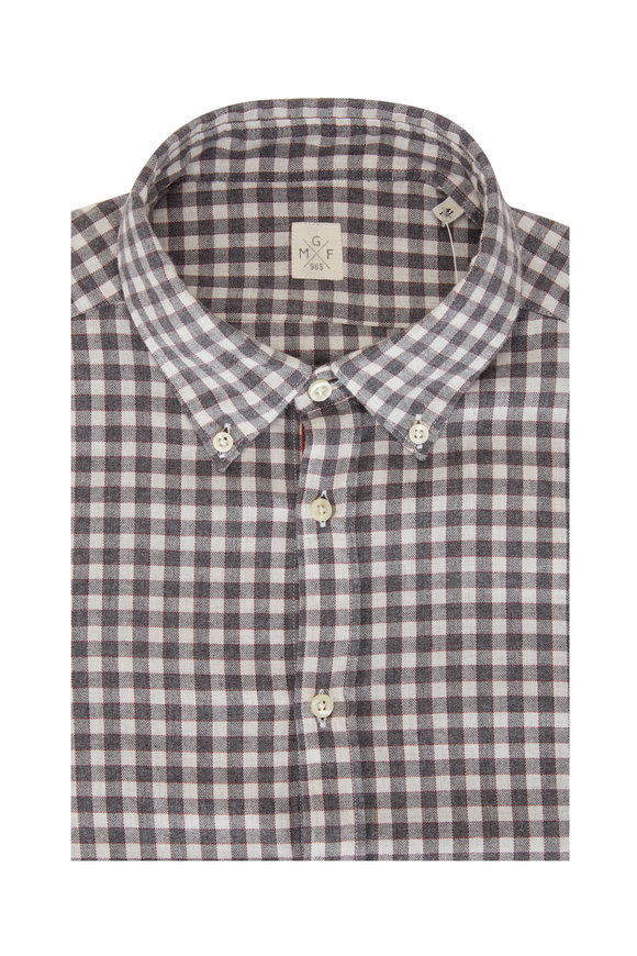 GMF Grey Buffalo Check Sport Shirt
