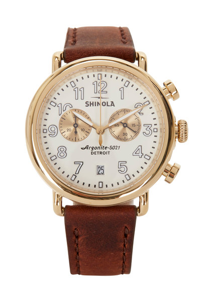 Shinola - The Runwell Ivory Chrono Watch, 41mm