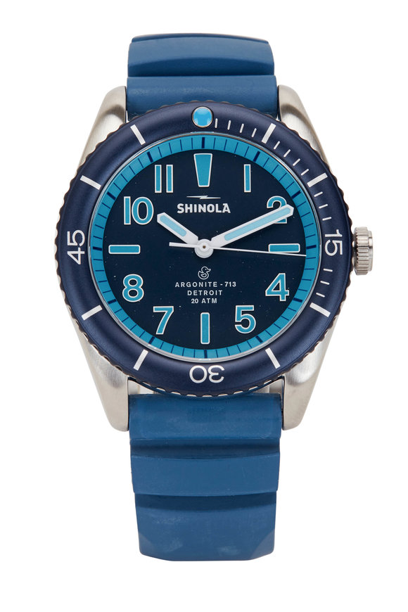 Shinola The Duck Blue Water Resistant Watch, 42mm
