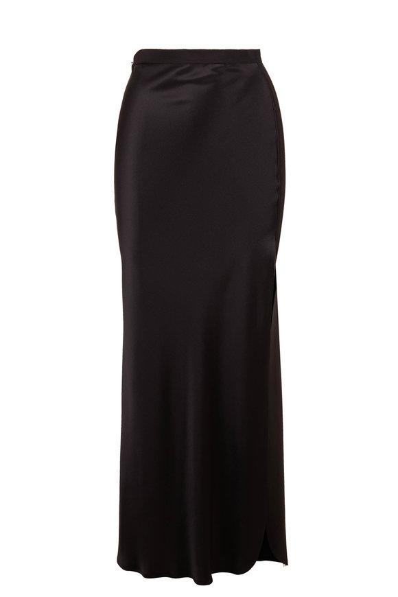 Nili Lotan Maya Black Silk Maxi Skirt