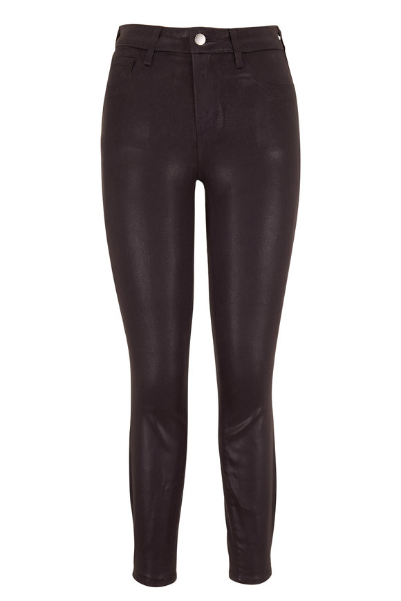 L'Agence Margot Greystone Coated High-Rise Skinny Jean