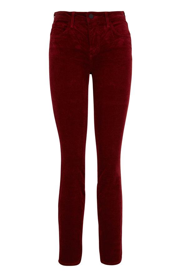 L'Agence Marguerite Merlot Velvet High-Rise Skinny Jean