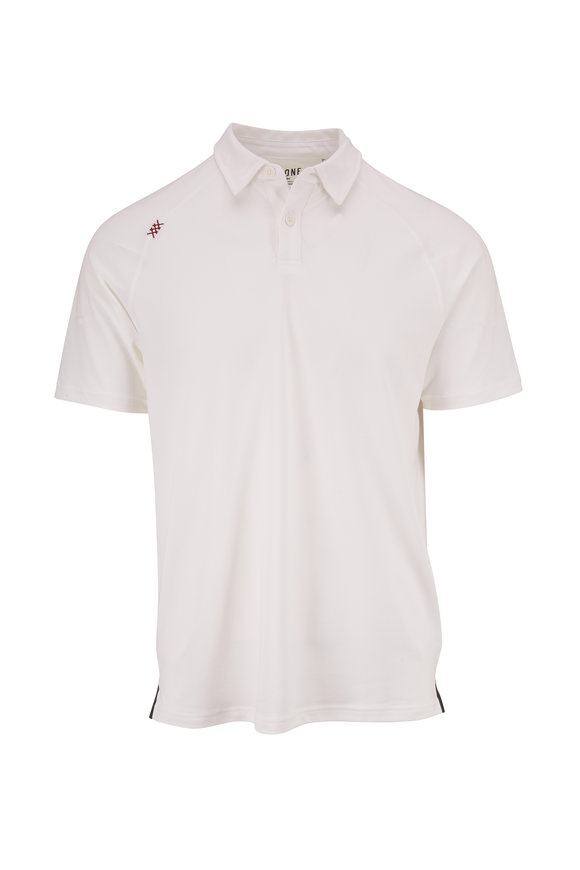 Rhone Apparel Delta White Short Sleeve Polo