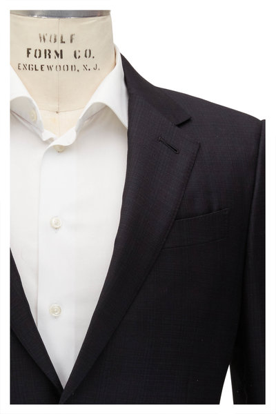 Ermenegildo Zegna - Charcoal Tonal Plaid Trofeo Wool Suit