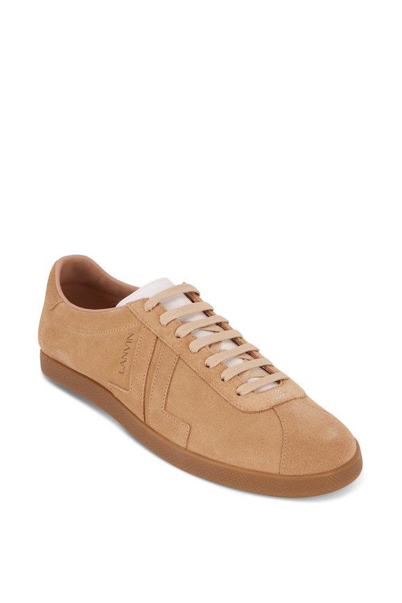 Lanvin Glen Beige Suede Sneaker