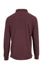 Faherty Brand - Luxe Merlot & Flint Stripe Long Sleeve Polo