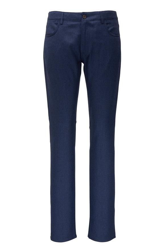 Canali Navy Wool Five Pocket Pant