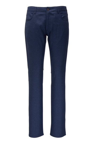 Canali - Navy Wool Five Pocket Pant