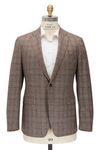 Atelier Munro - Tan & Brown Glencheck Wool Sportcoat