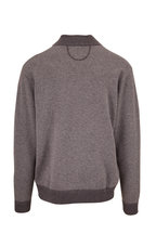 Raffi - Charcoal Gray Jacquard Quarter-Zip Pullover