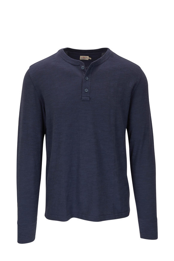 Faherty Brand Blue Nights Slub Cotton Henley