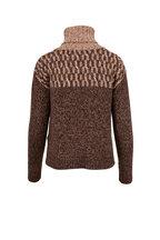 Veronica Beard - Bia Brown Multi Turtleneck Sweater