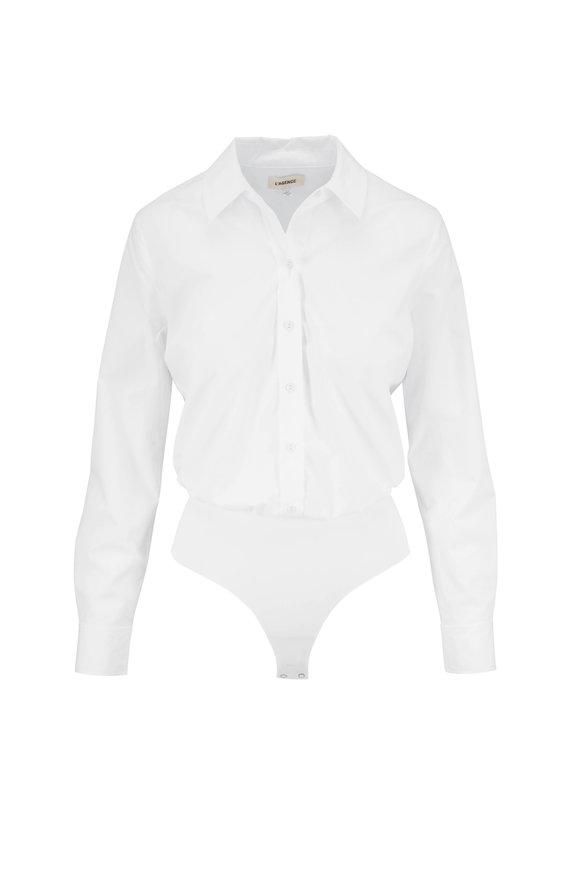 L'Agence Blake White Button Down Bodysuit