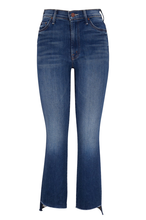 Mother Denim The Insider Sweet and Sassy Crop Step Fray