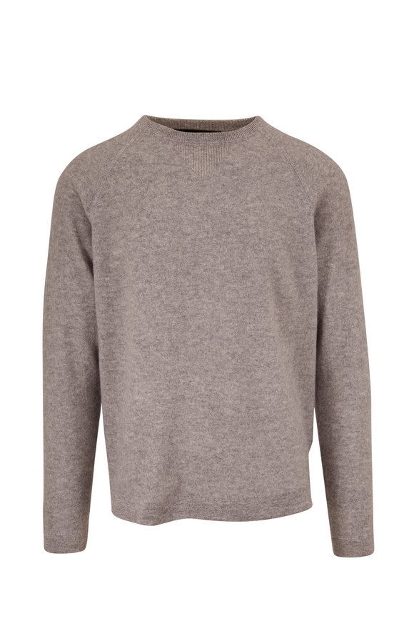 Kinross Stone Gray Crewneck Raglan Sleeve Pullover