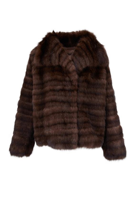 Oscar de la Renta Furs Natural Barguzine Sable Fur Coat